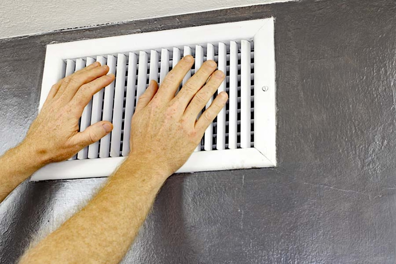 Hot air blowing out of vent